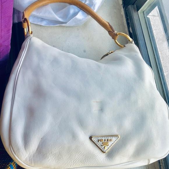 46fd5c2f2f Prada Bags | Hobo Handbag White | Poshmark